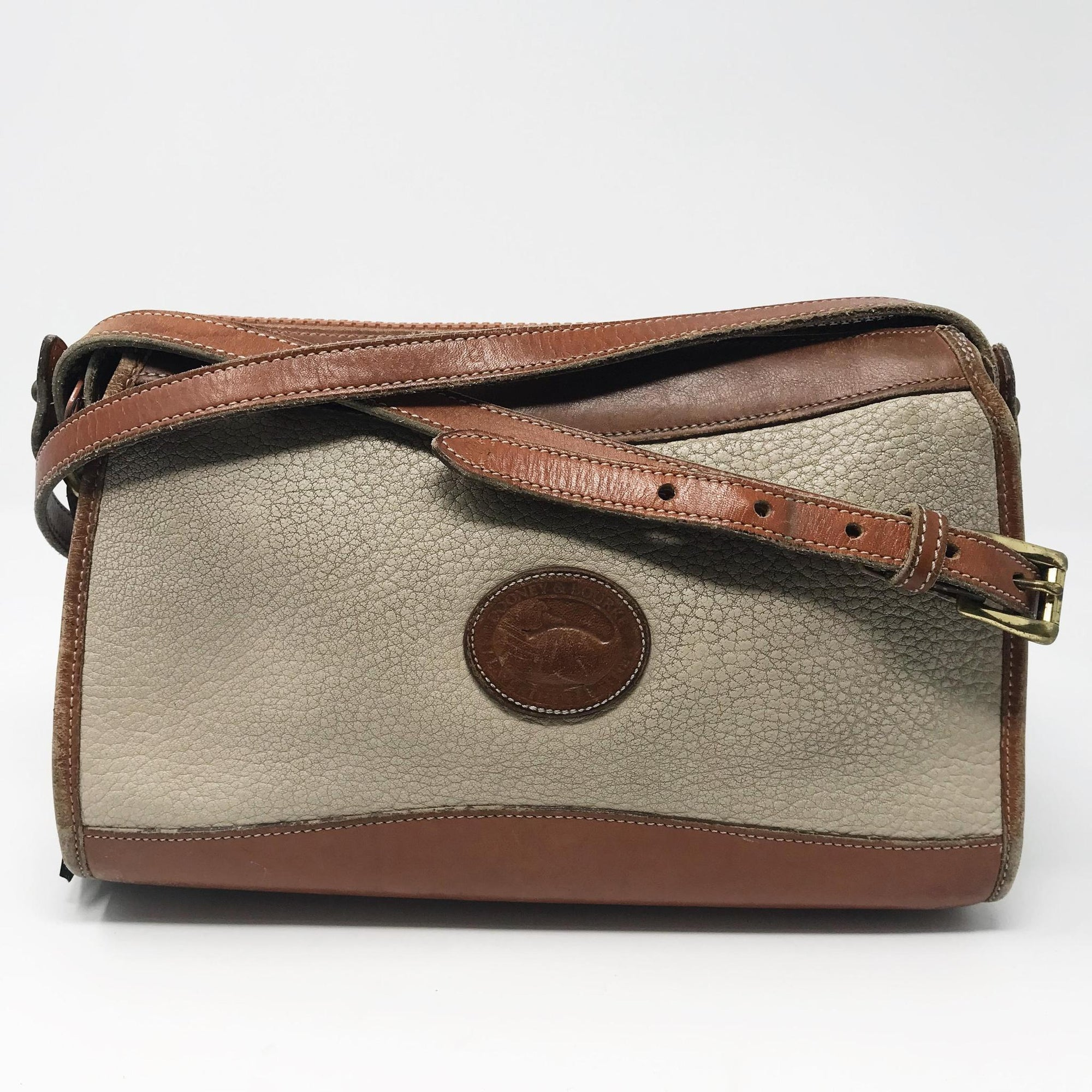 Vintage Taupe Dooney & Bourke Crossbody Bag