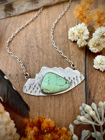 Green Turquoise Mountain Necklace