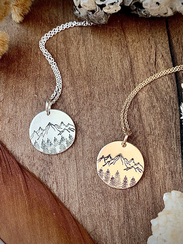 Mountain Coin Necklace