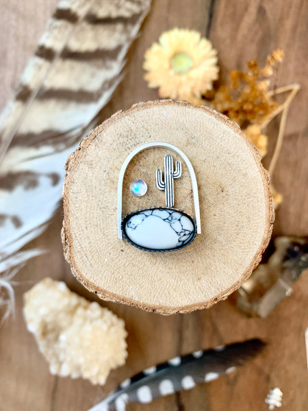 White Buffalo Shadow Box Necklace (made to order)