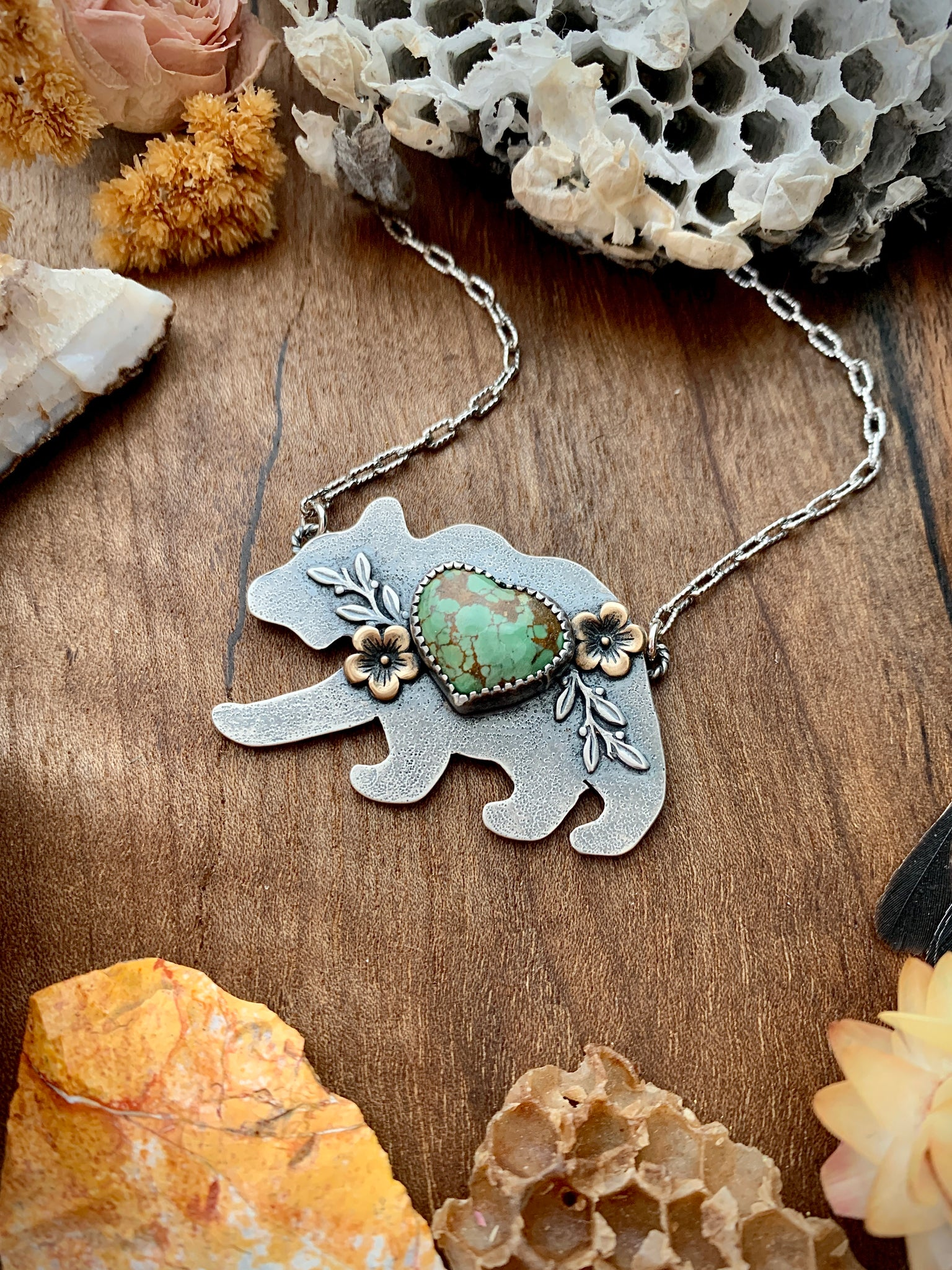 Hubei Turquoise Bear Necklace