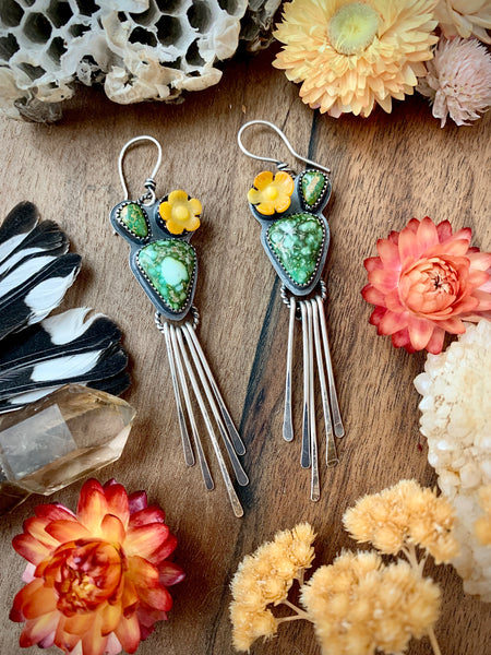 Prickly Pear Fringe Earrings