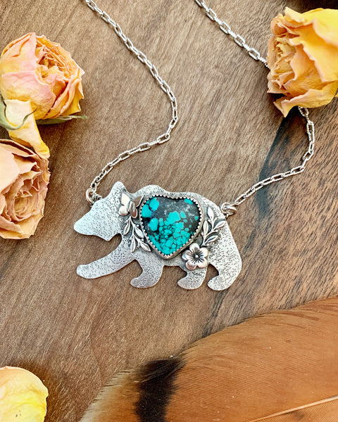 Kingman Turquoise Mama Bear (made to order)