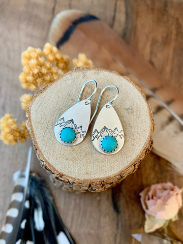 Mountain Earrings • Turquoise