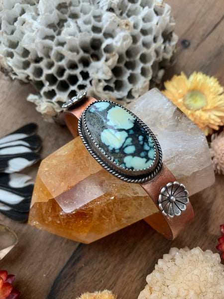 Copper Cuff-Lucky Lady Variscite