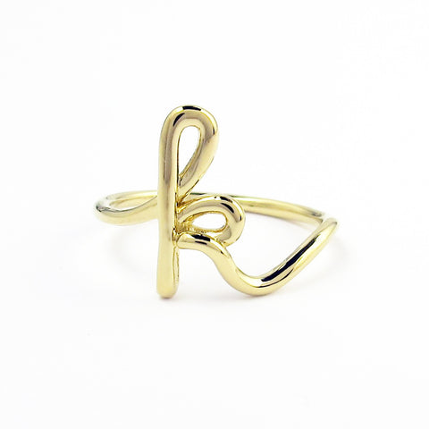 Gold Plated Initial Rings