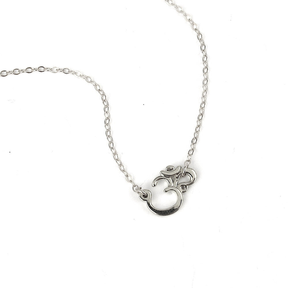 Dainty Om Necklace