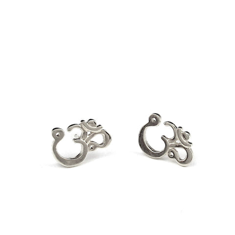 Om Post Earrings - Large