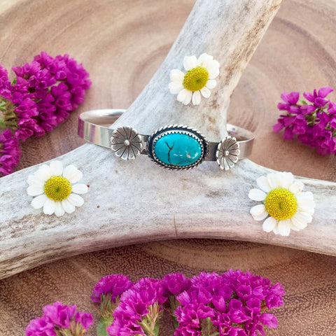 Turquoise Bloom Cuff