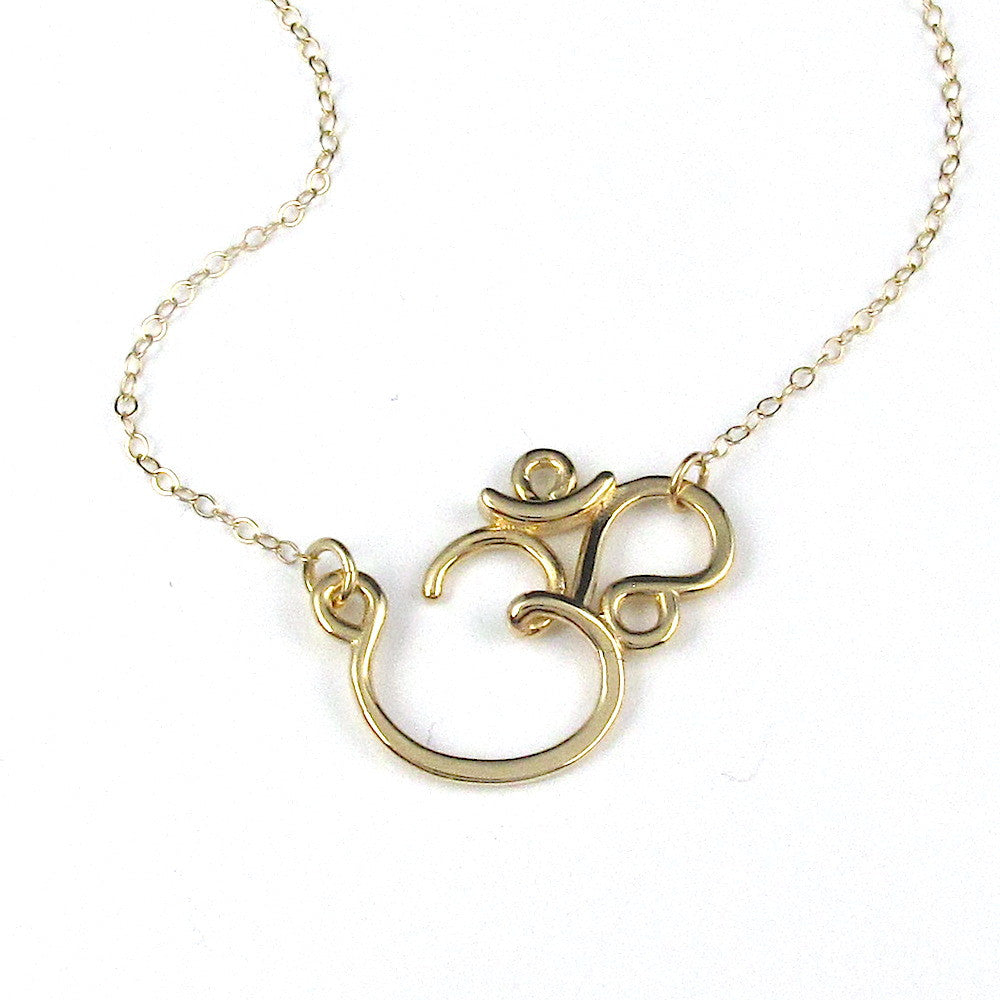 14k Om Necklace
