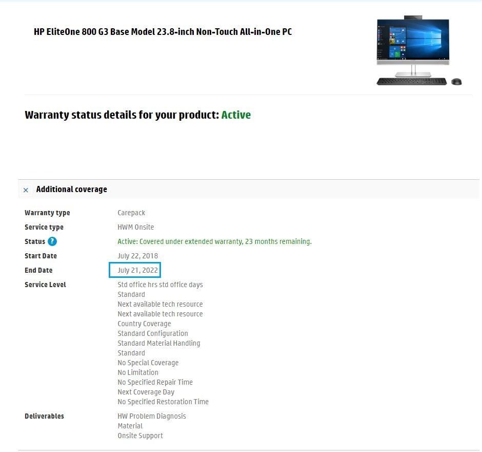 HP EliteOne 800 G3 All-in-One 23.8