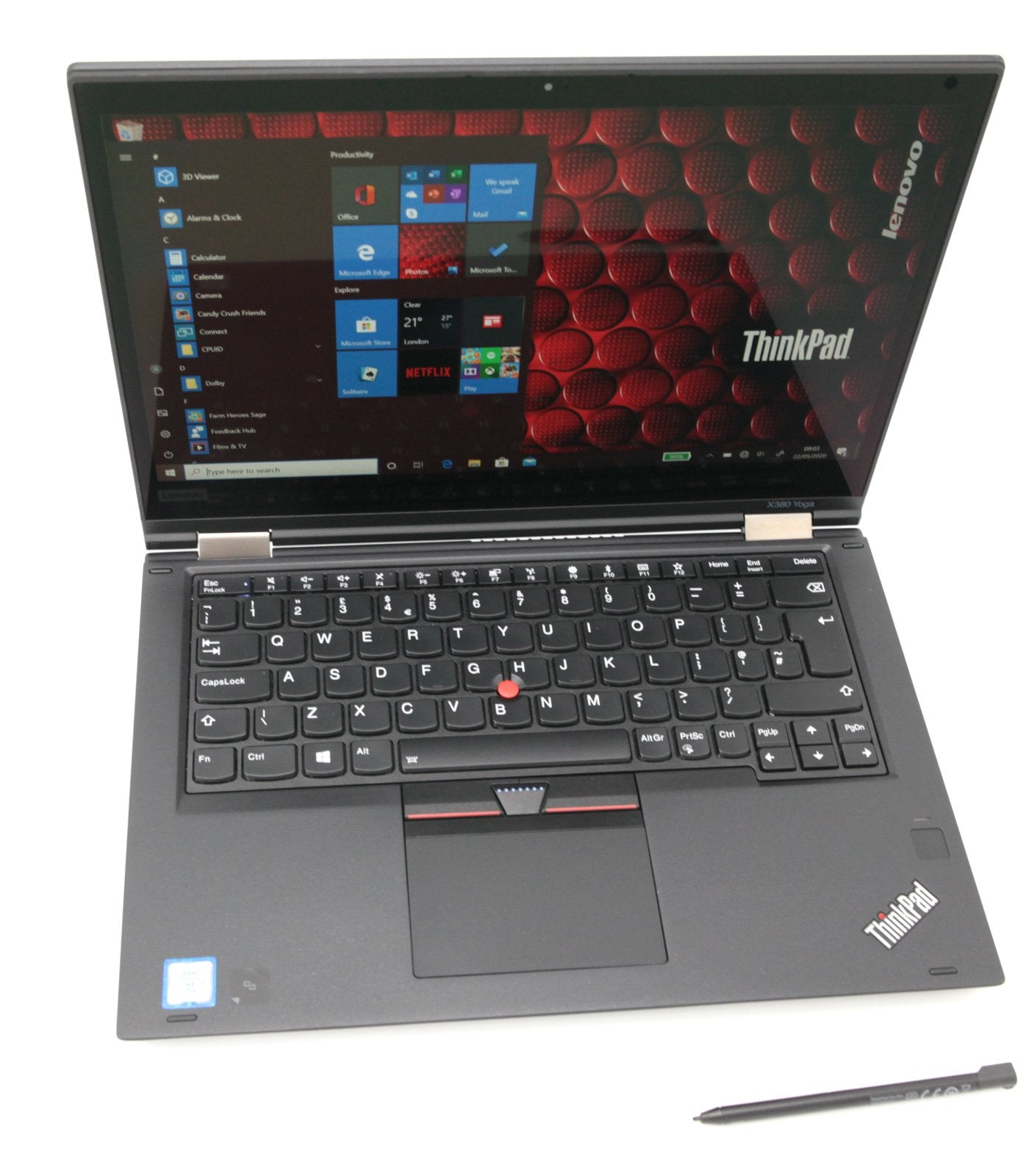 Lenovo Thinkpad X380 Yoga Laptop: Core i7-8650U, 512GB, 16GB RAM 4G Warranty VAT - CruiseTech