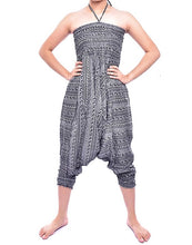 Load image into Gallery viewer, Bohotusk Red Chill Stripe Jump Suit 2 in 1 Low Drop Crotch Harem Pants Design Small / Medium (UK Size 8 - 12)
