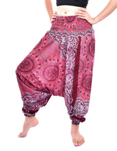 Load image into Gallery viewer, Bohotusk Blue Sun Glow Jump Suit 2 in 1 Low Drop Crotch Harem Pants Design Small / Medium (UK Size 8 - 12)