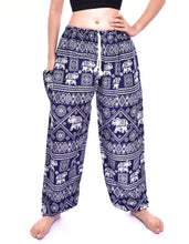Load image into Gallery viewer, Bohotusk Boys Blue Elephant Print Drawstring Waist Harem Pants (4 - 6 Years)