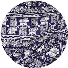 Load image into Gallery viewer, Bohotusk Navy Blue Elephant Print One Size Elasticated Smocked Waist Womens Harem Pants