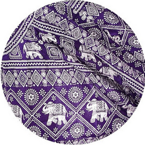 Bohotusk Purple Elephant Print Elasticated Smocked Waist Womens Harem Pants S/M to 3XL