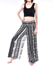 Load image into Gallery viewer, Bohotusk Black Elephant Herd Print Palazzo Trousers