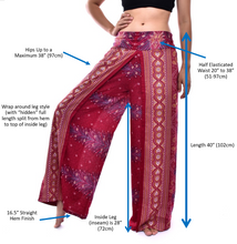 Load image into Gallery viewer, Bohotusk Red Elephant Herd Print Palazzo Trousers S/M (UK 8 - 12)