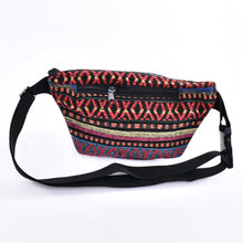 Load image into Gallery viewer, Bohotusk Criss Cross Print Cotton Bum Bag Fanny Pack Waist Travel Bag