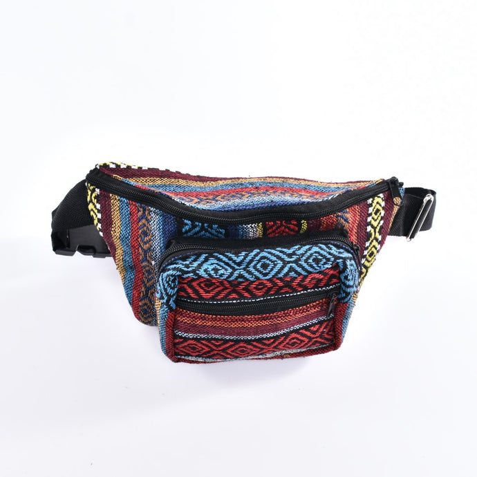 Bohotusk Check Print Cotton Bum Bag Fanny Pack Waist Travel Bag