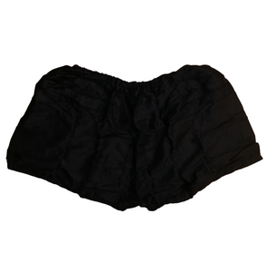 Bohotusk Plain Black Harem Shorts
