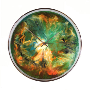 "Wall clock with original painting""Limited Edition"""