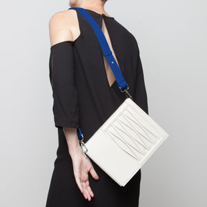 10014 Infinity Power Shoulder: Off-white Lambskin
