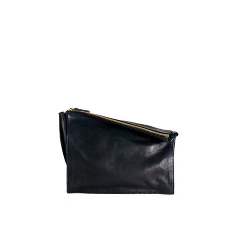 10018 Infinity Power Clutch: Black Leather