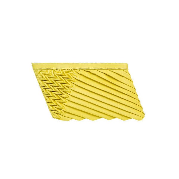 ONLINE EXCLUSIVE: 80571 S Power Clutch: Lime yellow Lambskin - Sabrina Zeng