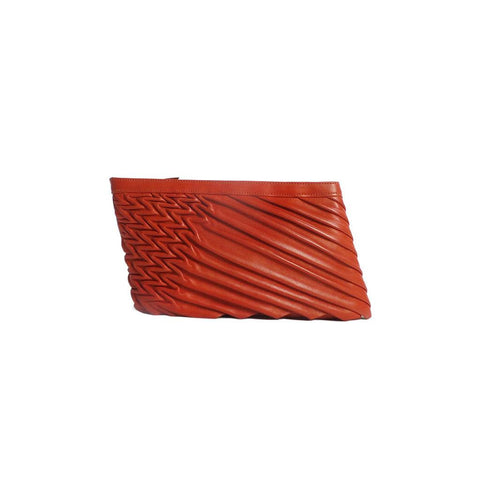 80571 S Power Clutch: Red Lambskin