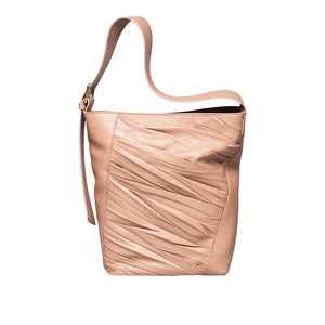 91000 Freedom Bucket Shoulder: Taupe Lambskin