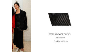 80571 S Power Clutch: Black Lambskin