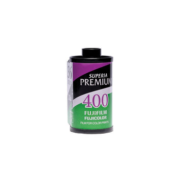 Fuji Superia Premium 400 35mm film canister