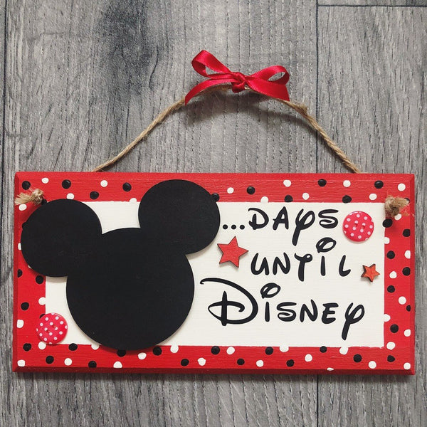 Disney Countdown Plaque (Mickey or Minnie)