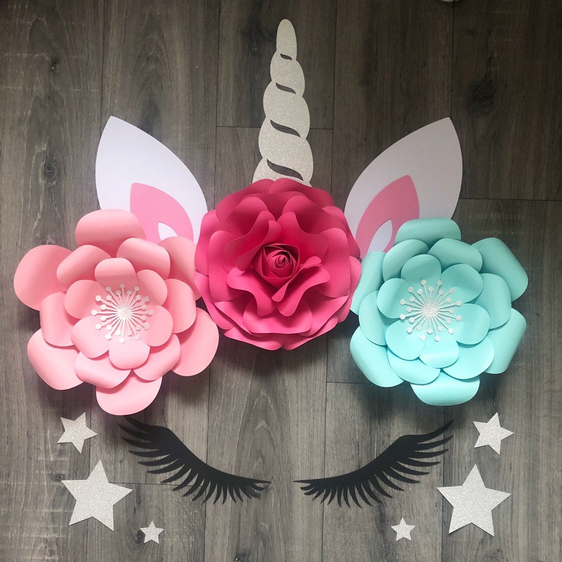 Unicorn Wall Decor with Rose