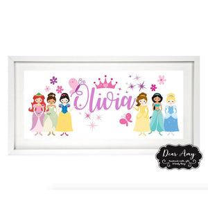 Disney Princess Name Frame