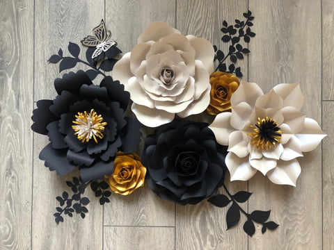Paper flower wall home decor, bedroom/hallway decor
