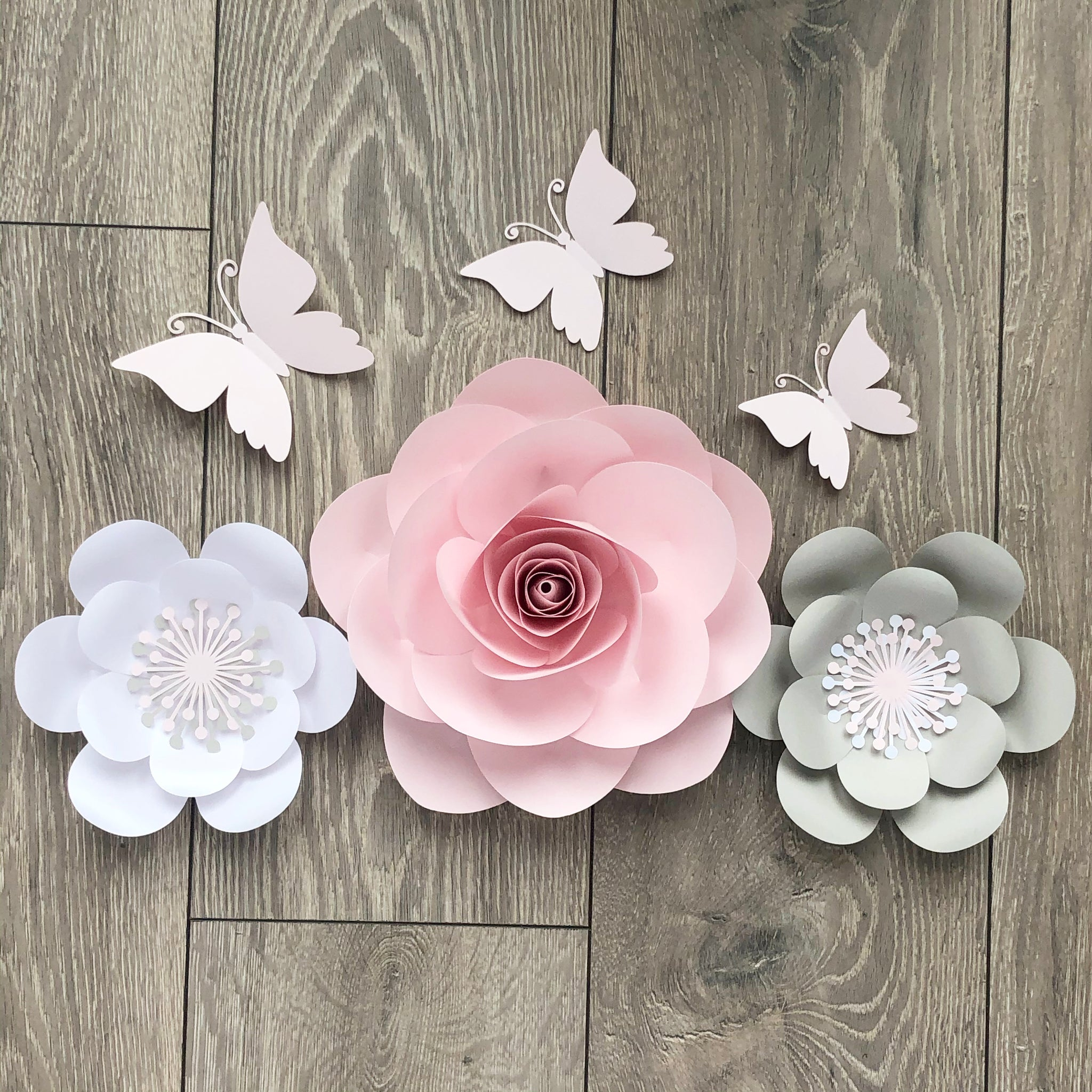 Georgia Paper Flower Rose Nursery And Bedroom Set
