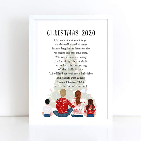 CHRISTMAS 2020 QUOTE FAMILY PRINT PERSONALISED