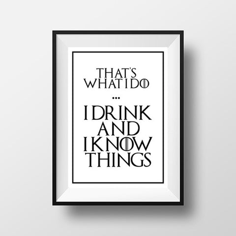 Game of thrones Tyrion print