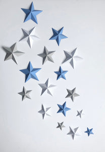 3D Stars wall decor set