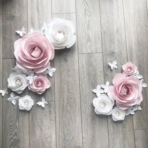 Robyn Rose Large Pearl Paper Flower Set