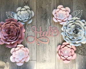 Maddison Flower and Rose Paper Flower Set different colours