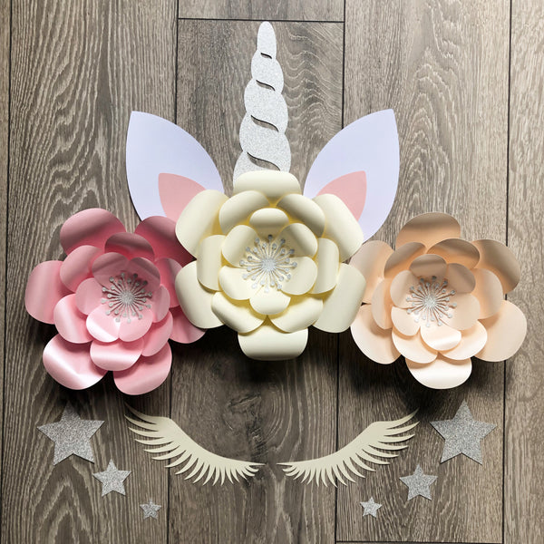 Pearlised Unicorn Flowers Backdrop, Wall, Party Decor