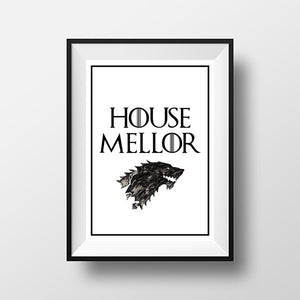 Game of thrones Personalised House print
