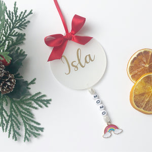 2020 Personalised Rainbow Tree Decoration Christmas