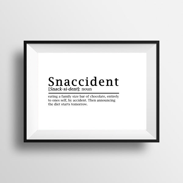 Snaccident print A4