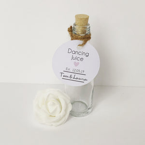 Dancing Juice wedding favour personalised tags (Pack of 10)