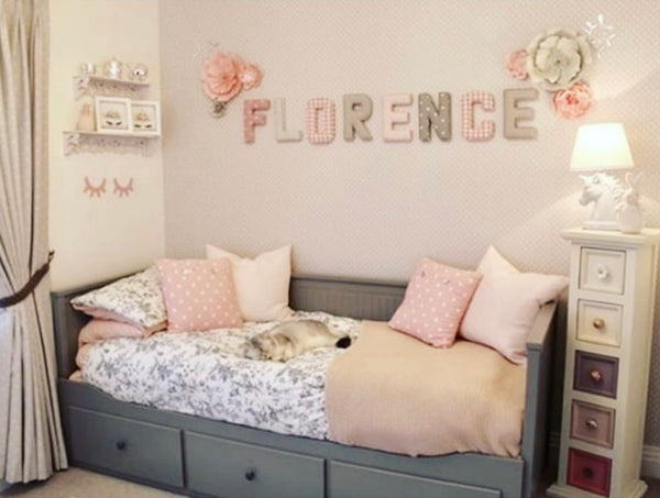 Maura set of flowers, nursery/bedroom decor